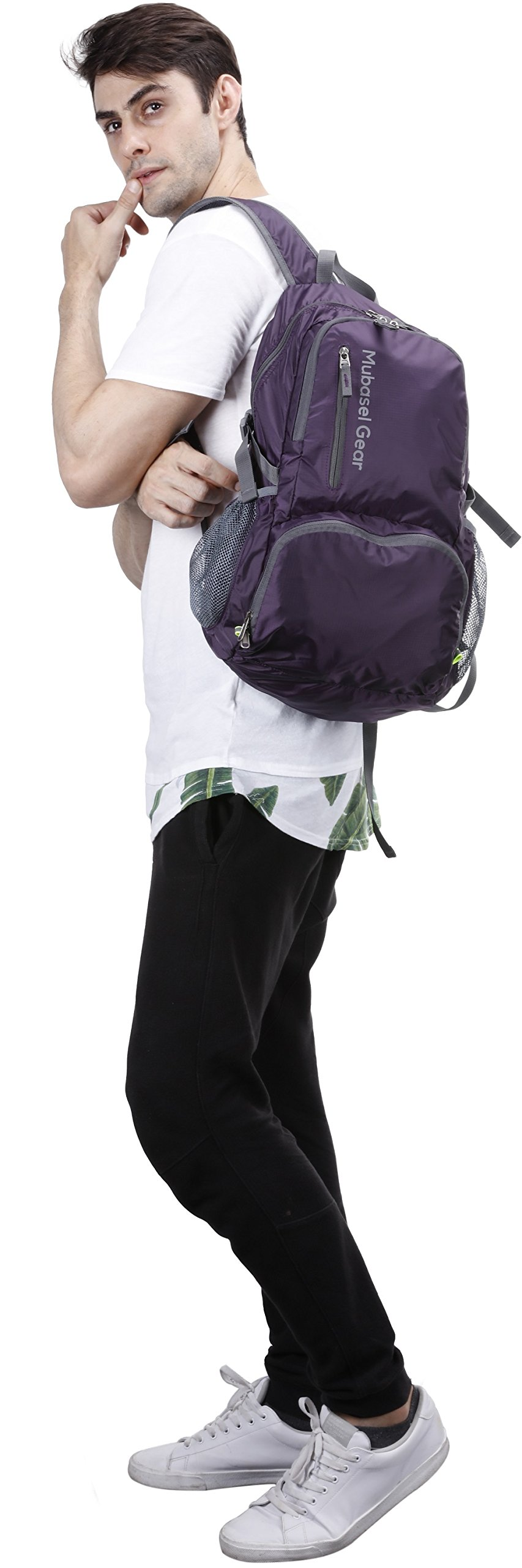 Mubasel Gear Backpack - Lightweight Backpacks for Travel Hiking - Daypack for Women Men (Purple) by Mubasel Gear (Image #5)