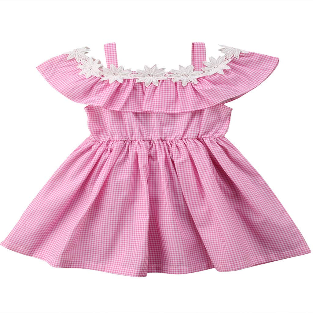 Princess Dress Girls,Toddler Kids Baby Girl 3D Cartoon Princess Duckling Character Play Dress Clothes,Girls' Shorts,Pink,12-18M