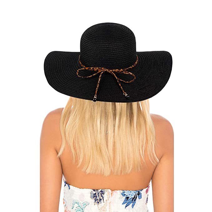 206fca124ba96 Summer Women Wide Brim Straw Panama Hat Fedora Beach Sun Hat at ...