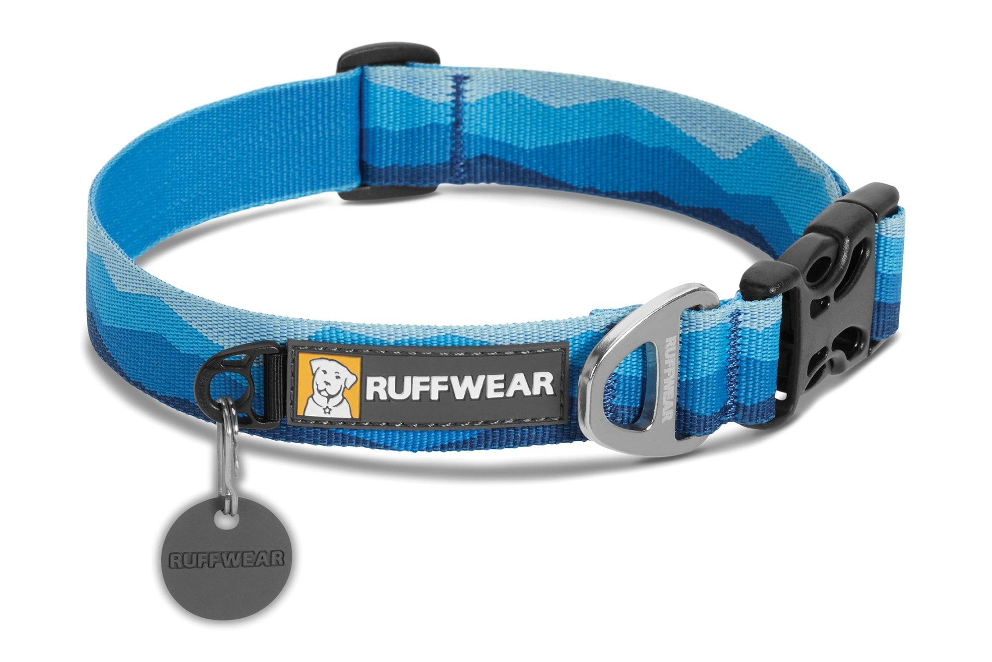 RUFFWEAR - Hoopie Dog Collar, Blue Mountains, Large