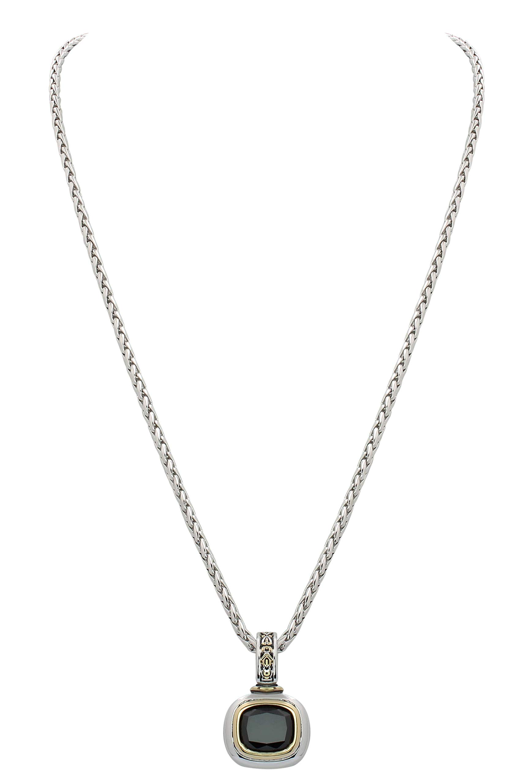 John Medeiros Black Cubic Zirconia Necklace 16'' ID Made in The USA by John Medeiros (Image #1)