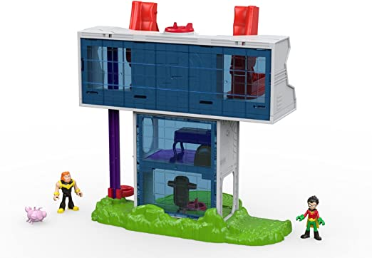 Tower Playset Imaginext Robin Mammoth Silkie Figures Projectiles Teen Titans Go