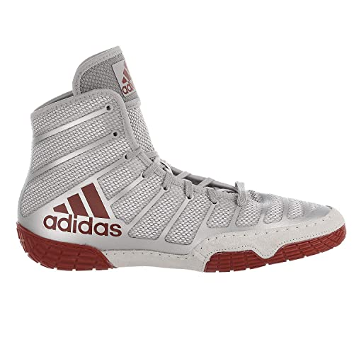 best service f713a 408df adidas adiZero Varner Mens Wrestling Shoes, Red Silver Red Size 8