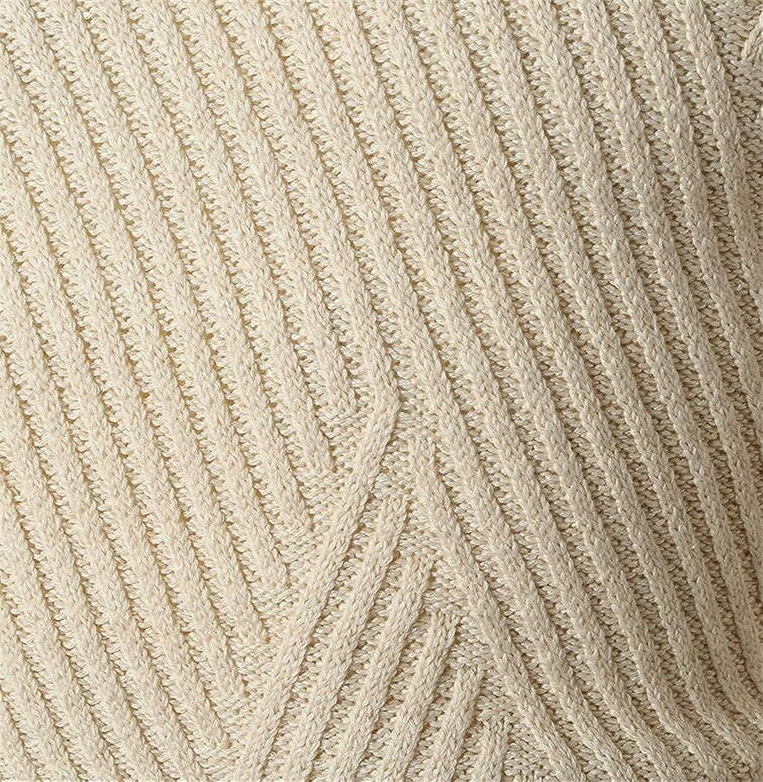 Pandapang Men Slim Fit Solid Color Knit Mock Neck Pullover Jumper Sweaters