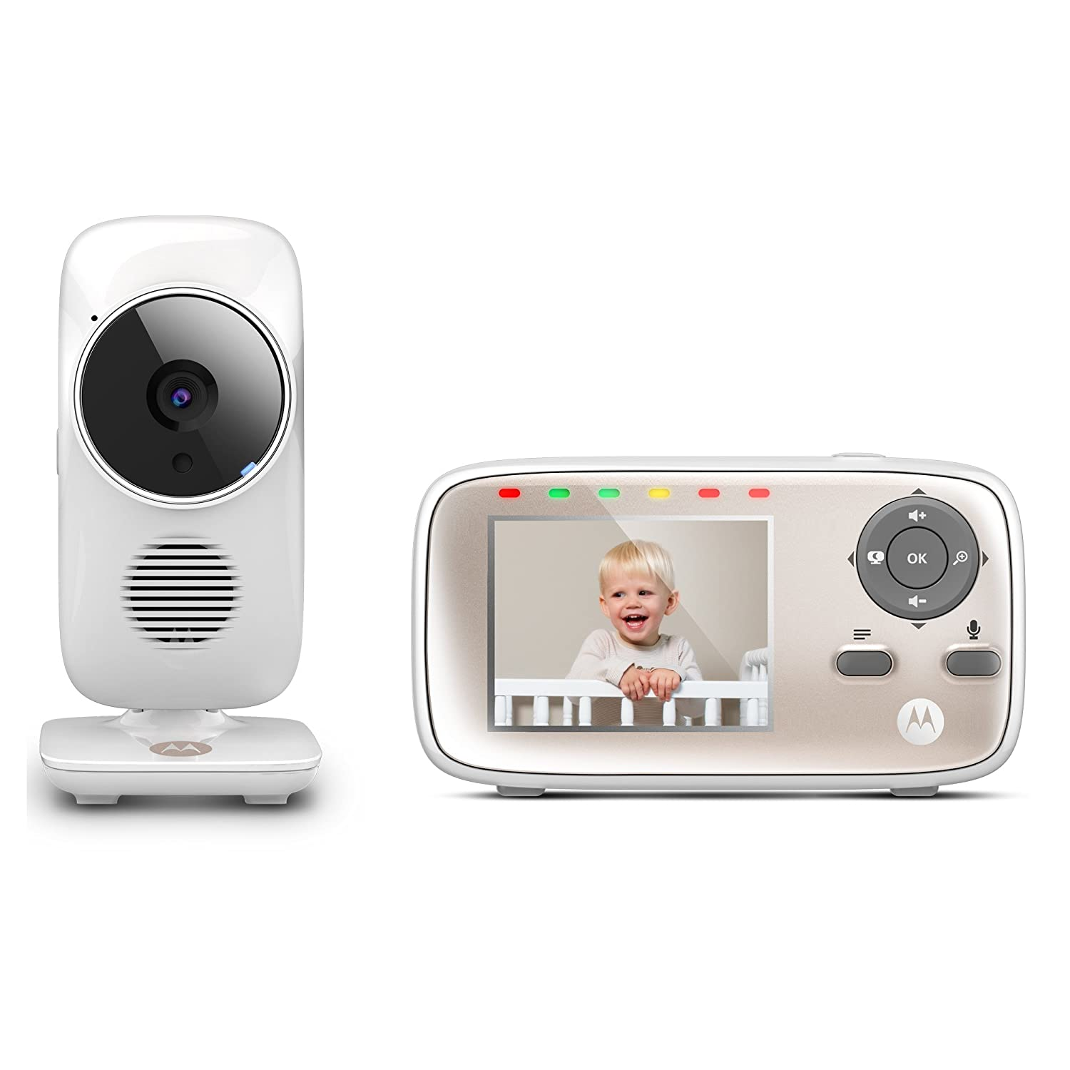 Motorola MBP667CONNECT 2.8-inch Video Baby Monitor with Wi-Fi Viewing, Digital Zoom, Two-Way Audio, and Room Temperature Display