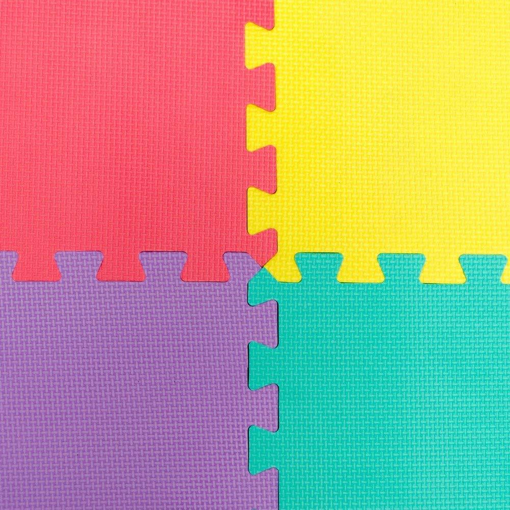 VLFit Puzle para Ni/ños 10 Piezas Alfombra de Juego para beb/é Esterilla de Rompecabezas Aprox 0,9m Puzle de Suelo de Goma en Espuma EVA