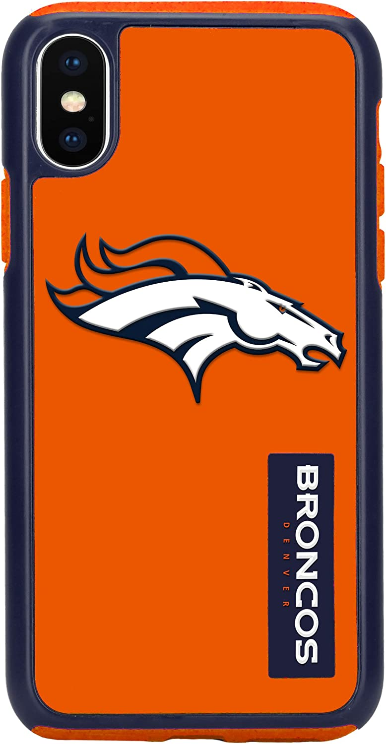 "Forever Collectibles iPhone XS/X 5.8"" Screen Only Dual Hybrid Impact Licensed Case - NFL Denver Broncos"