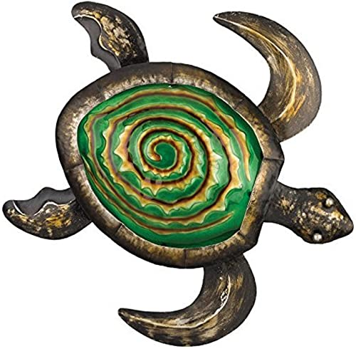 Regal Art Gift Bronze Sea Turtle Wall Decor, 18-Inch