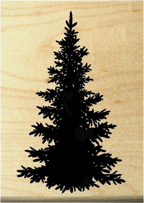Pine Small Christmas Tree Rubber Stamp Evergreen Fir