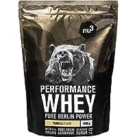 nu3 Performance Whey Protein - Vanille Flavor 1 kg eiwitpoeder - eiwitpoeder met goede oplosbaarheid - 22,5 g eiwit per…