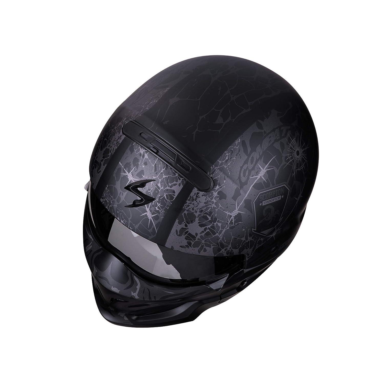 SCORPION Casque moto EXO-COMBAT Stealth Matt Black-Silver M