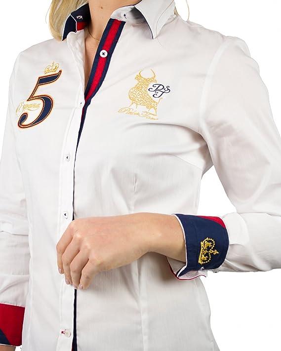 Piel de Toro 42142506 Camisa, Blanco (Blanco 13), Small (Tamaño del Fabricante:S) para Mujer: Amazon.es: Ropa y accesorios