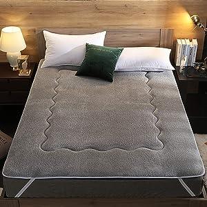 yidenguk Breathable Floor Futon Mattress,Foldable Sleeping Pad,Soft Mattress Mat Bedroll Japanese for Home Dorm Travel Camping