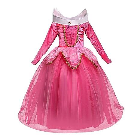 prezzo basso marchio famoso la più grande selezione di NNDOLL Aurora Principessa Vestito Sleeping Beauty Costume Bambina Carnevale  Abito Partito Ragazza Cerimonia (Rosa 110/ 2 - 3 Anni)