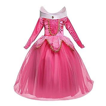 5a1139239 NNDOLL Disfraz de Princesa Aurora Sleeping Beauty Dress para Niña pequeña  Carnival Vestido Rosa 2 3 años