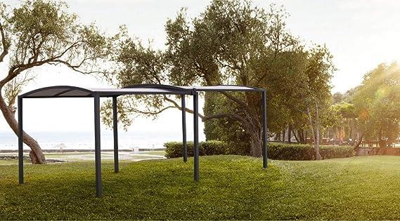 Bizzotto - Cenador Extensible de jardín con Ruedas 2, 9 x 5, 7 m, Estructura Extensible de pérgola de Acero y Techo de poliéster, Nolan: Amazon.es: Jardín