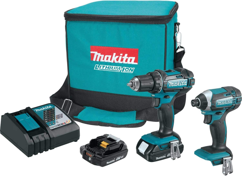 Makita CT225R, juego inalámbrico compacto, ion de litio, 18 vatios, 2 piezas Kit combinado