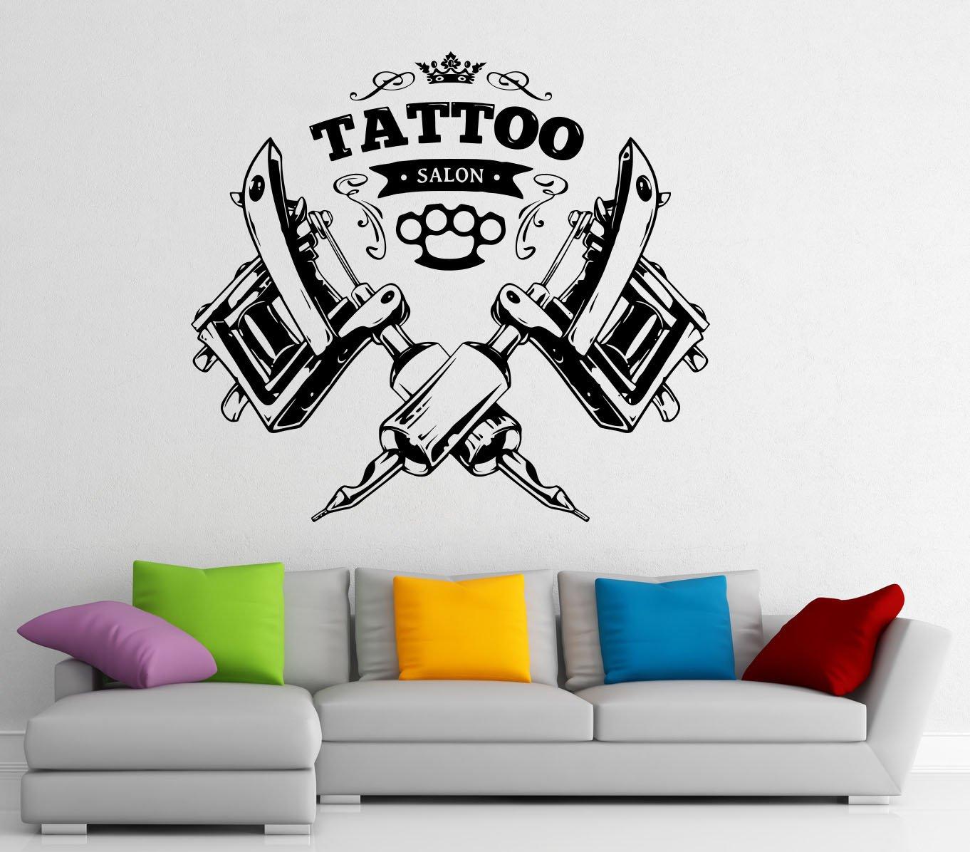 tattoo shop logo wall decal vinyl sticker tattoo salon window tattoo shop logo wall decal vinyl sticker tattoo salon window sticker wall decor 1t01s amazon com