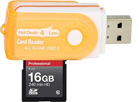16GB Class 10 Memory Card SDHC High Speed 20MB//Sec Blazing Fast Card For CANON CAMCORDER VIXIA HF 20 HF M300 HF M31 Comes with. A free Hot Deals 4 Less High Speed all in one Card Reader is included