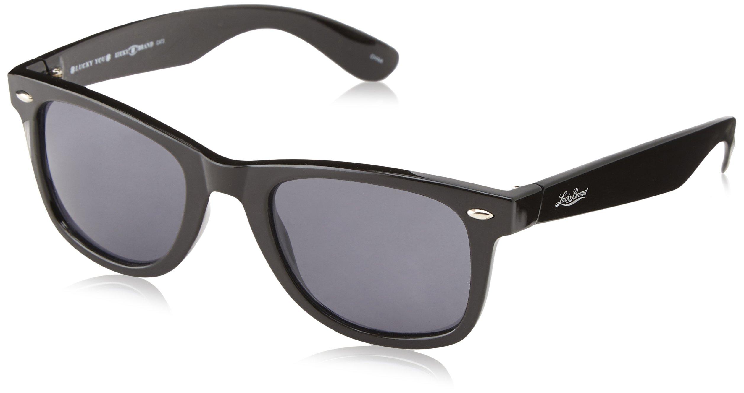 Lucky Duskbla52 Wayfarer Sunglasses, Black, 52 mm