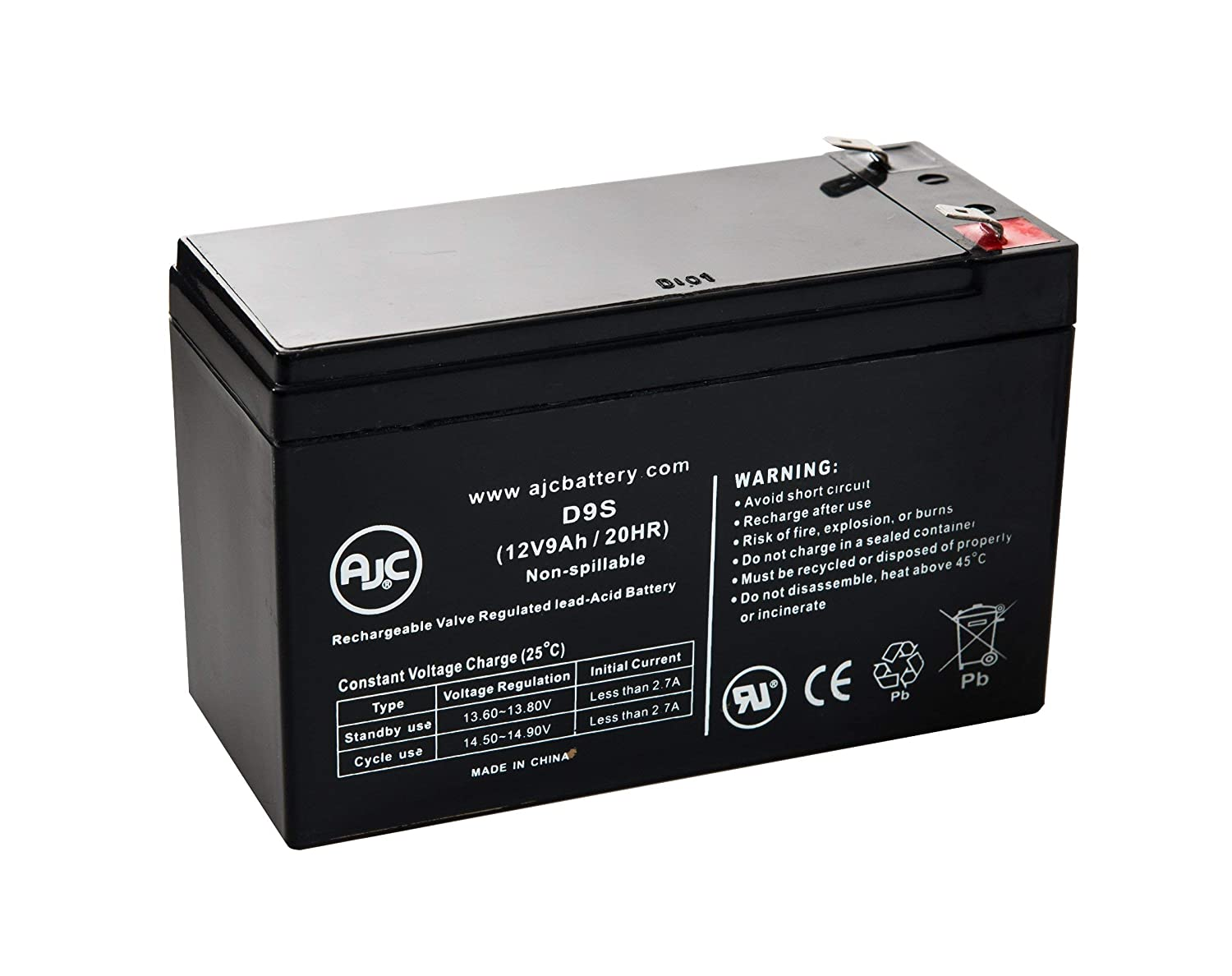 UPG UB1290 12V 9Ah Sealed Lead Acid Battery - This is an AJC Brand Replacement AJC Battery