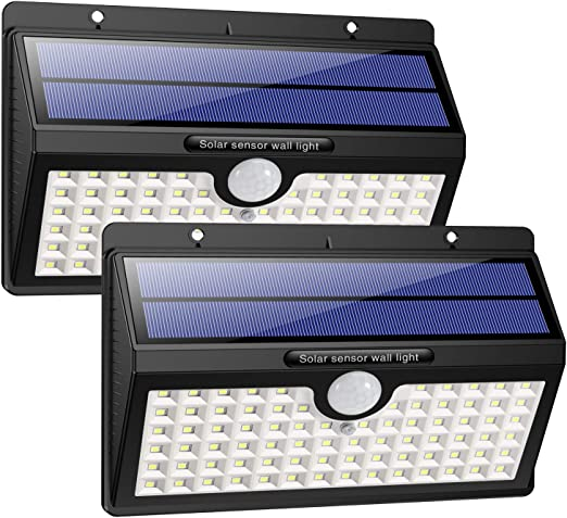 HETP Lampe Solaire Extérieur [Version à économie D\'énergie] 2 Pack 78 led  2000mAh Détecteur de Mouvement éclairage Solaire Extérieur étanche Sans Fil  ...