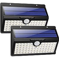 HETP Lampe Solaire Extérieur [Version à économie D'énergie] 2 Pack 78 led 2000mAh Détecteur de Mouvement éclairage Solaire Extérieur étanche Sans Fil Spot Solaire Lumière Puissant Sécurité pour Jardin