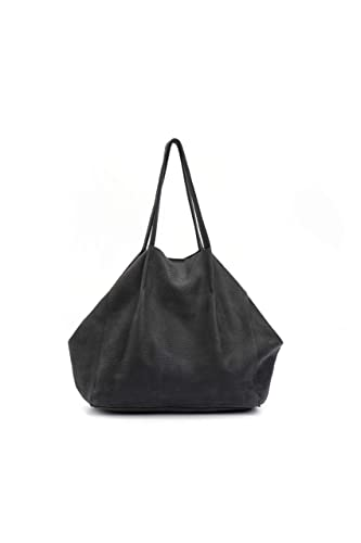 abc5f017fbe4 Amazon.com  Handmade Slouchy Hobo Dark Ash Grey Leather Shoulder Tote Bag   Handmade
