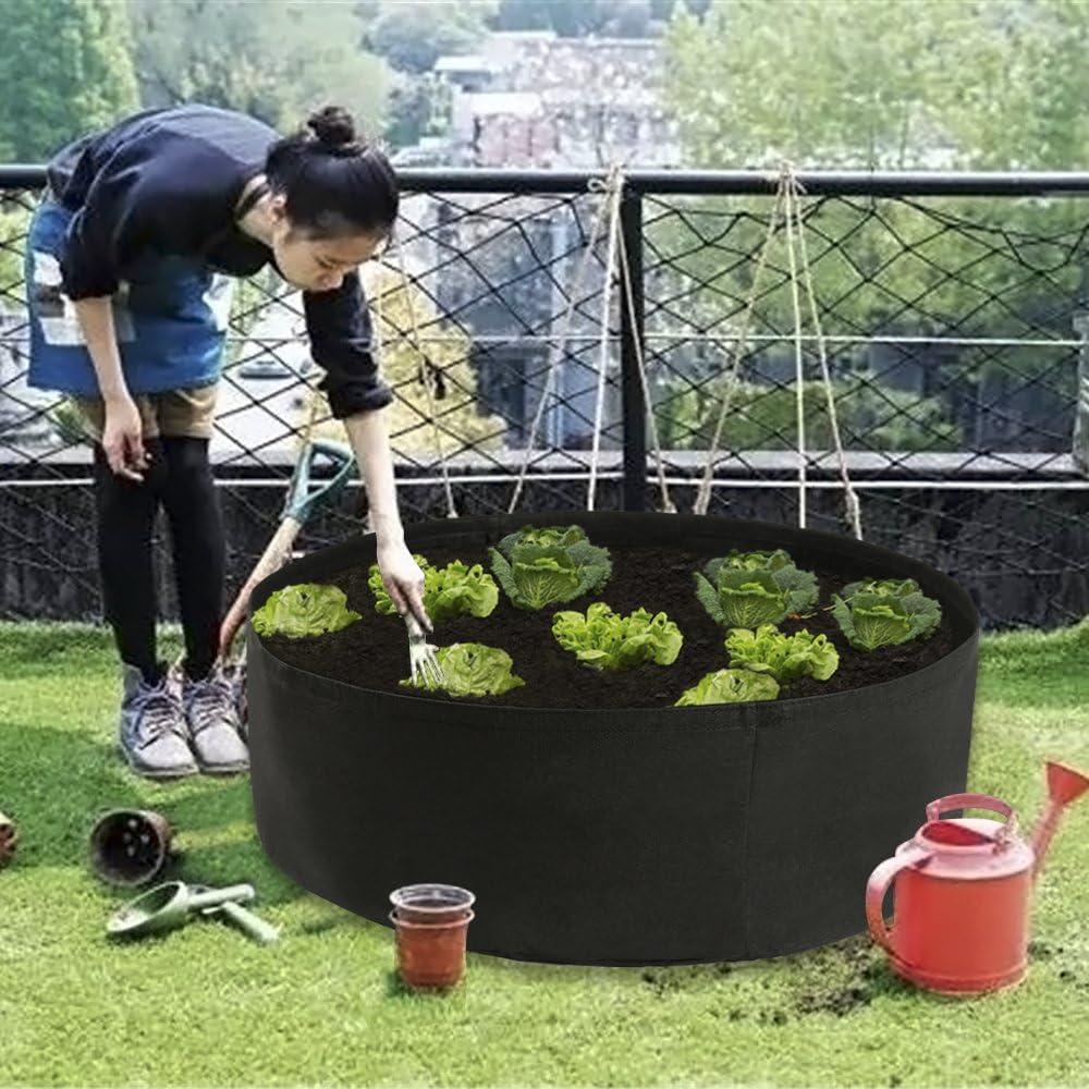 Maniglie Piantare Crescere Borse Sacchetto In Tessuto Non Tessuto Giardino Letto Fioriera Contenitori Crescere Borsa Piantare Vasi AllAperto