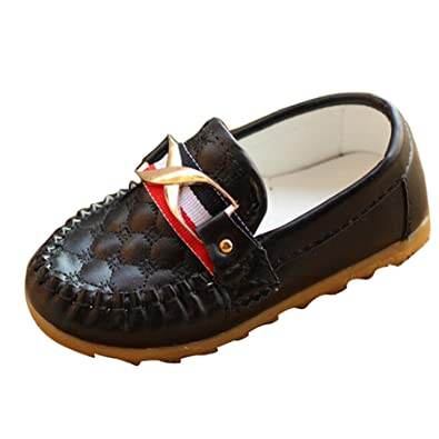 UK Kids Boys Girls Slip On Flat Loafers Moccasins Toddler Casual Boat Shoes Size