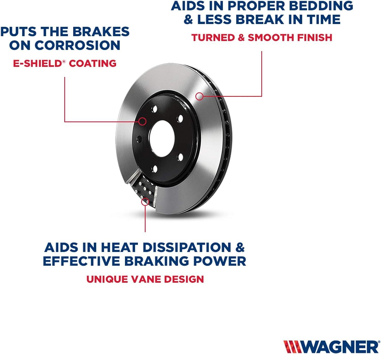 Wagner BD126445E Premium E-Coated Brake Rotor