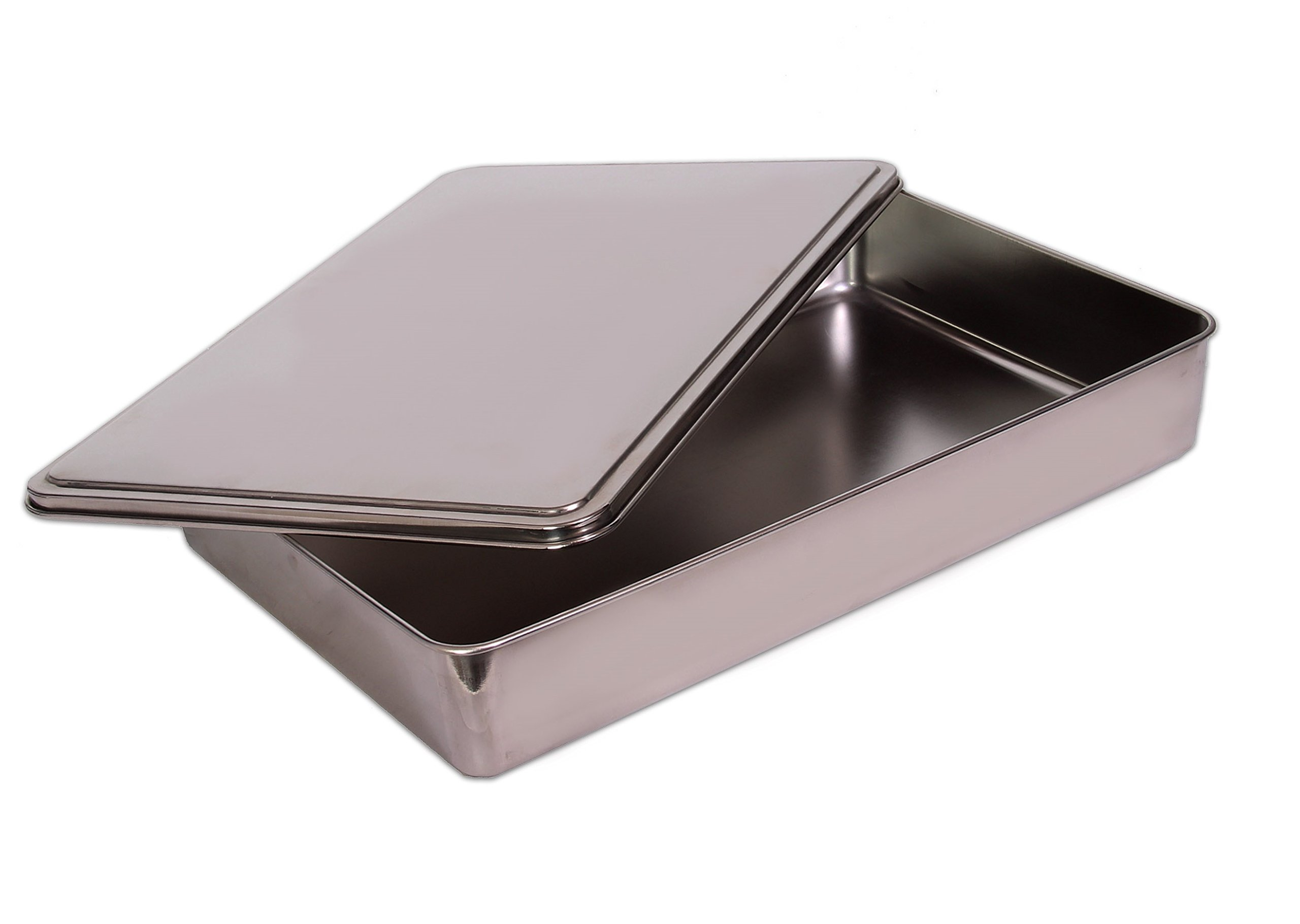 YBM HOME Stainless Steel Covered Cake Pan, Silver (Extra Large-2403) by YBM HOME (Image #2)