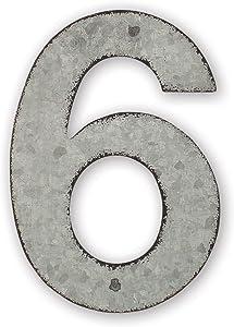 Sunset Vista Design Studios Magnetic Sign 4-Inch Metal Address Tile, Number 6