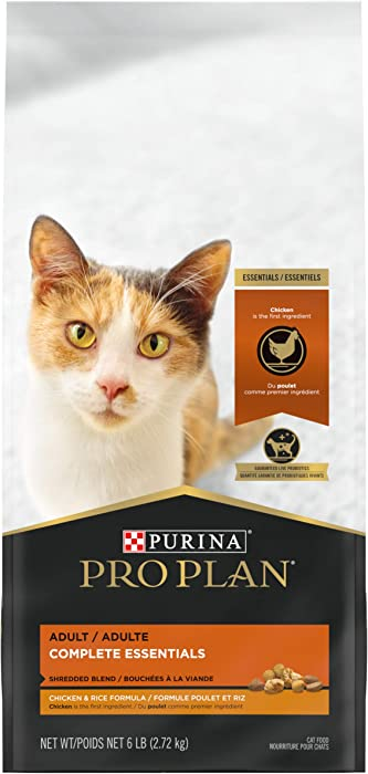 Purina Pro Plan With Probiotics, High Protein Dry Cat Food, Shredded Blend Chicken & Rice Formula - 6 lb. Bag