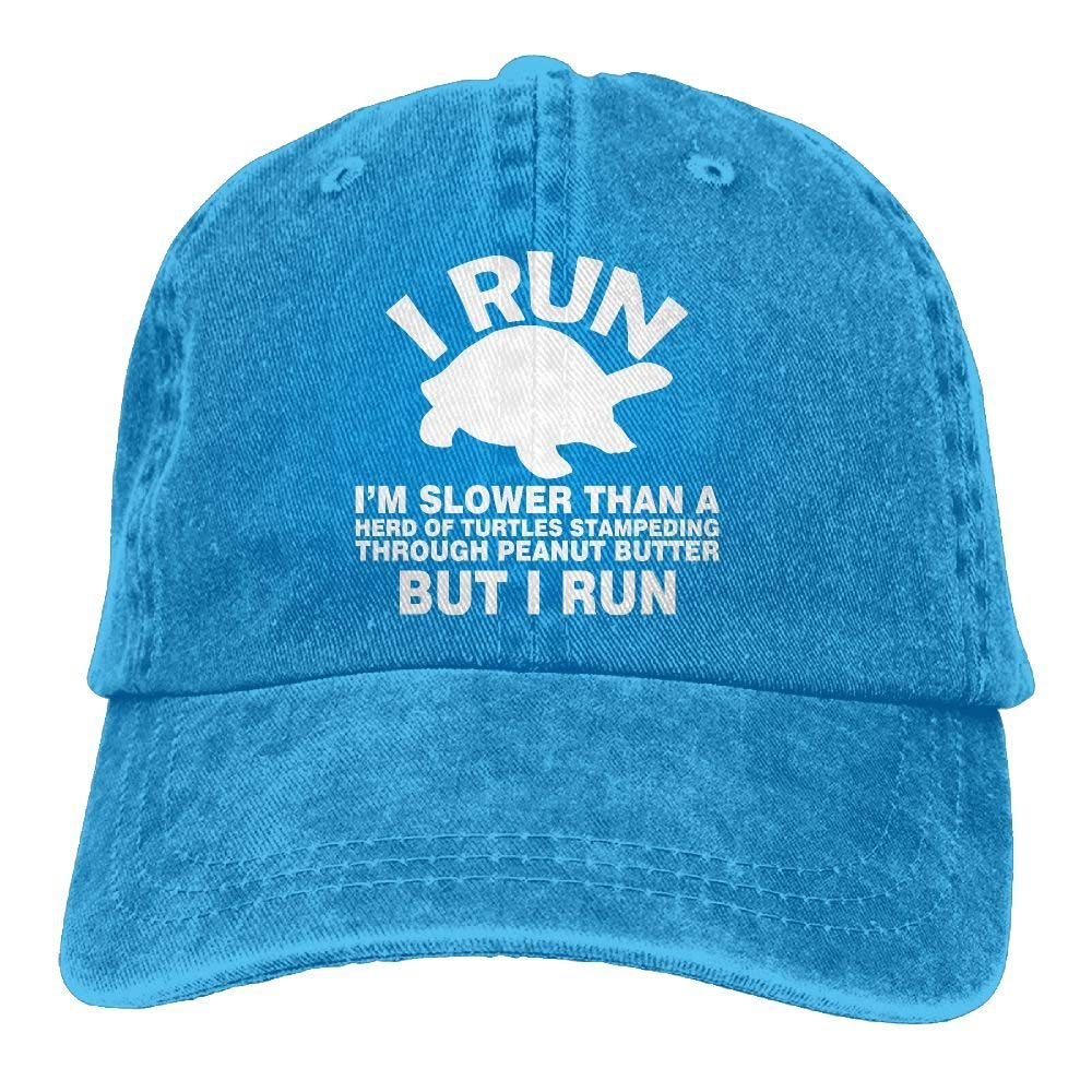 wwoman I Run Im Slower Than Turtles-1 Vintage Jeans Gorra de ...