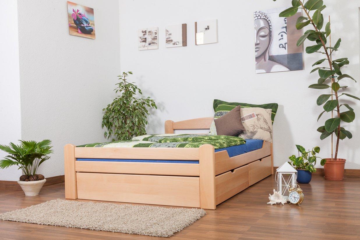 Einzelbett mit schubladen buche  Einzelbett / Funktionsbett