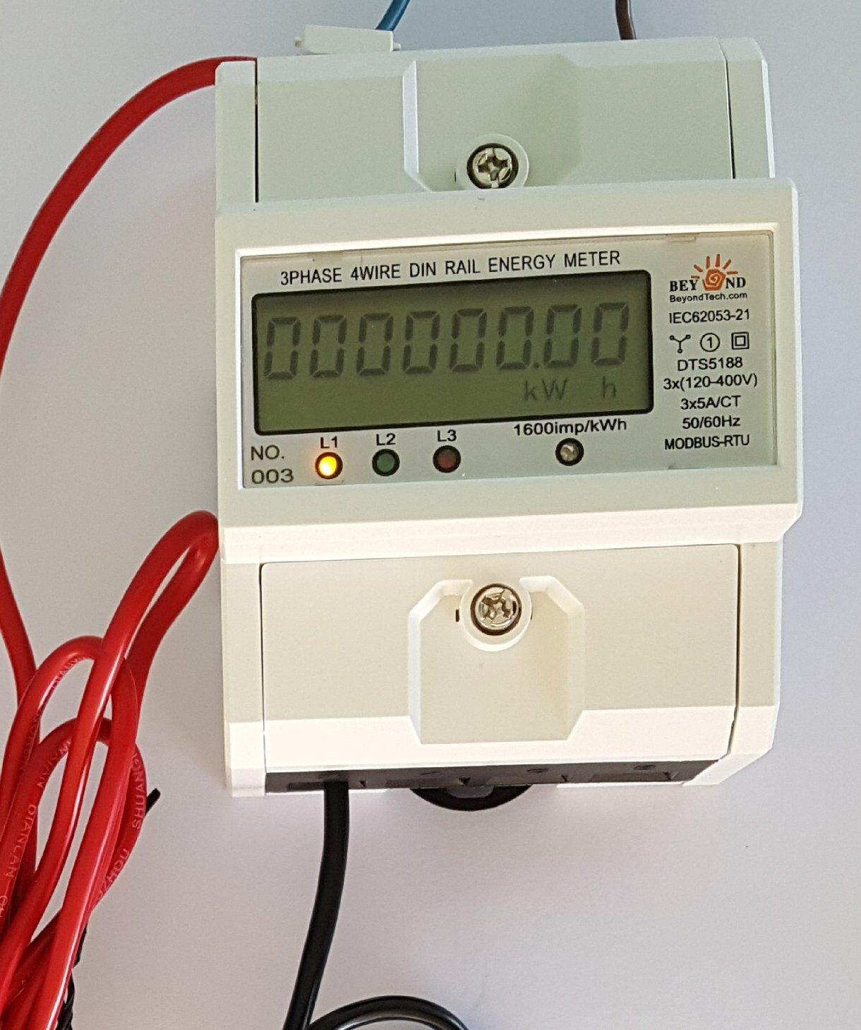 Combo Kwh Energy Sub Meter 1 2 Or 3 Phase Up To 4 Wires 120 400 Wire Four Single 240 Volt 60 Hz A 208 Volts 100 Amps Internal Cts Usa
