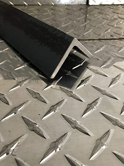 Finish OnlineMetals 48 Length Mill 3 x 4 Leg Lengths 0.375 Thickness Hot Rolled Squared Corners Unpolished Unequal Leg Length A36 Hot Roll Steel Angle