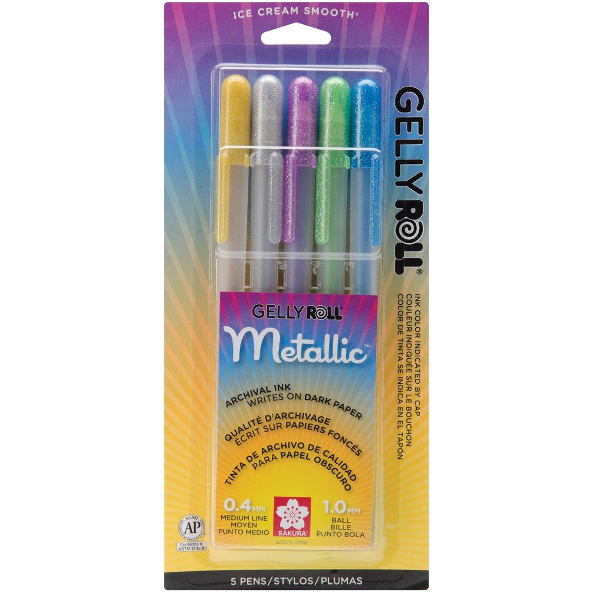 Assorted Colors Sakura 58176 10-Piece Gelly Roll Blister Card Moonlight 06 Fine Point Gel Ink Pen Set
