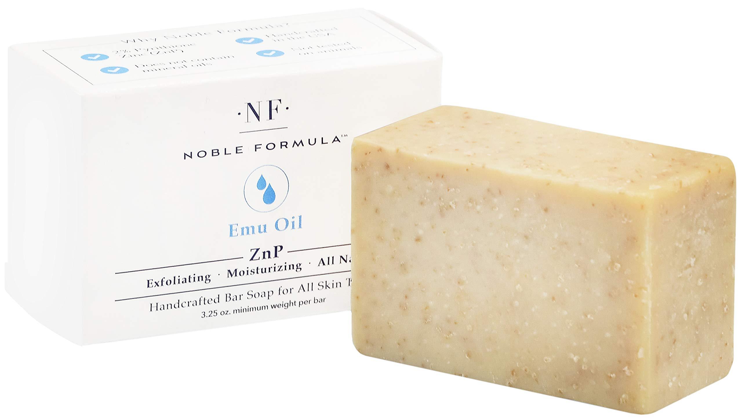 Noble Formula 2% Pyrithione Zinc (ZnP) Original Emu Bar Soap, 3.25 oz