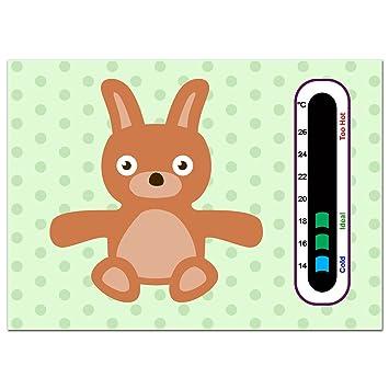Baby Safe Ideas Rabbit Bear Nursery Room Thermometer Easy Read