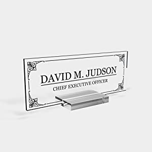 "Personalized Desk nameplate Desk Decor Men Office Acrylic Holder Office Supply Acrylic Sign Coworker Gift Teacher Secretary - Men Gift (8""x3"")"