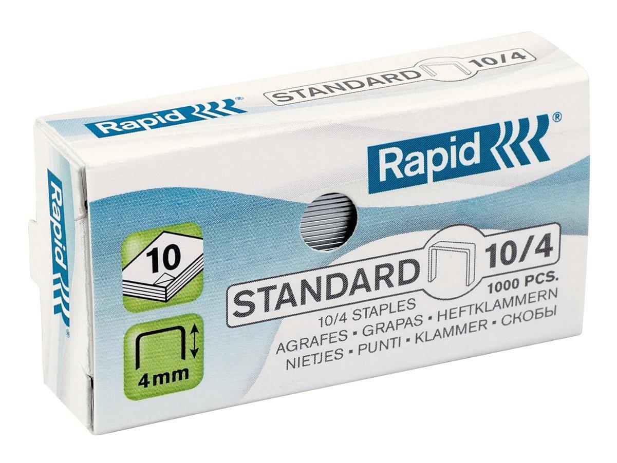 Rapid Punti metallici Standard N 10/4, 1000 punti 24862900