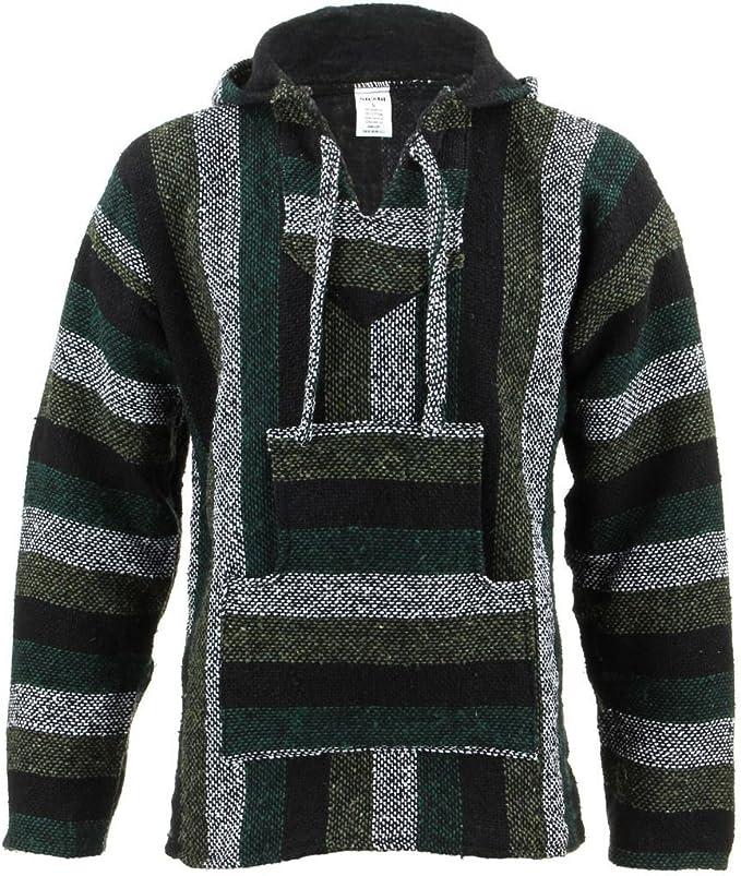TALLA XL. Sudadera con capucha, bolsillo frontal y cordones estilo Hippy, color verde menta