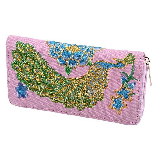 Yesiidor - Bolso de mano bordado con diseño de pavo real y ...