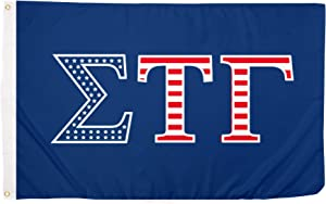 Desert Cactus Sigma Tau Gamma USA Fraternity Flag Greek Letter Banner Large 3 feet x 5 feet Sign Decor (Flag - USA)