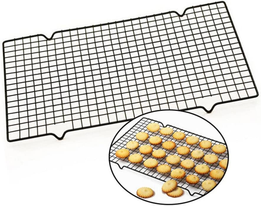 Lopbinte 1pc Carbon Steel Non-stick Cooling Rack Cooling Grid Baking Tray For Biscuit Cookie Pie Bread Cake Baking Rack