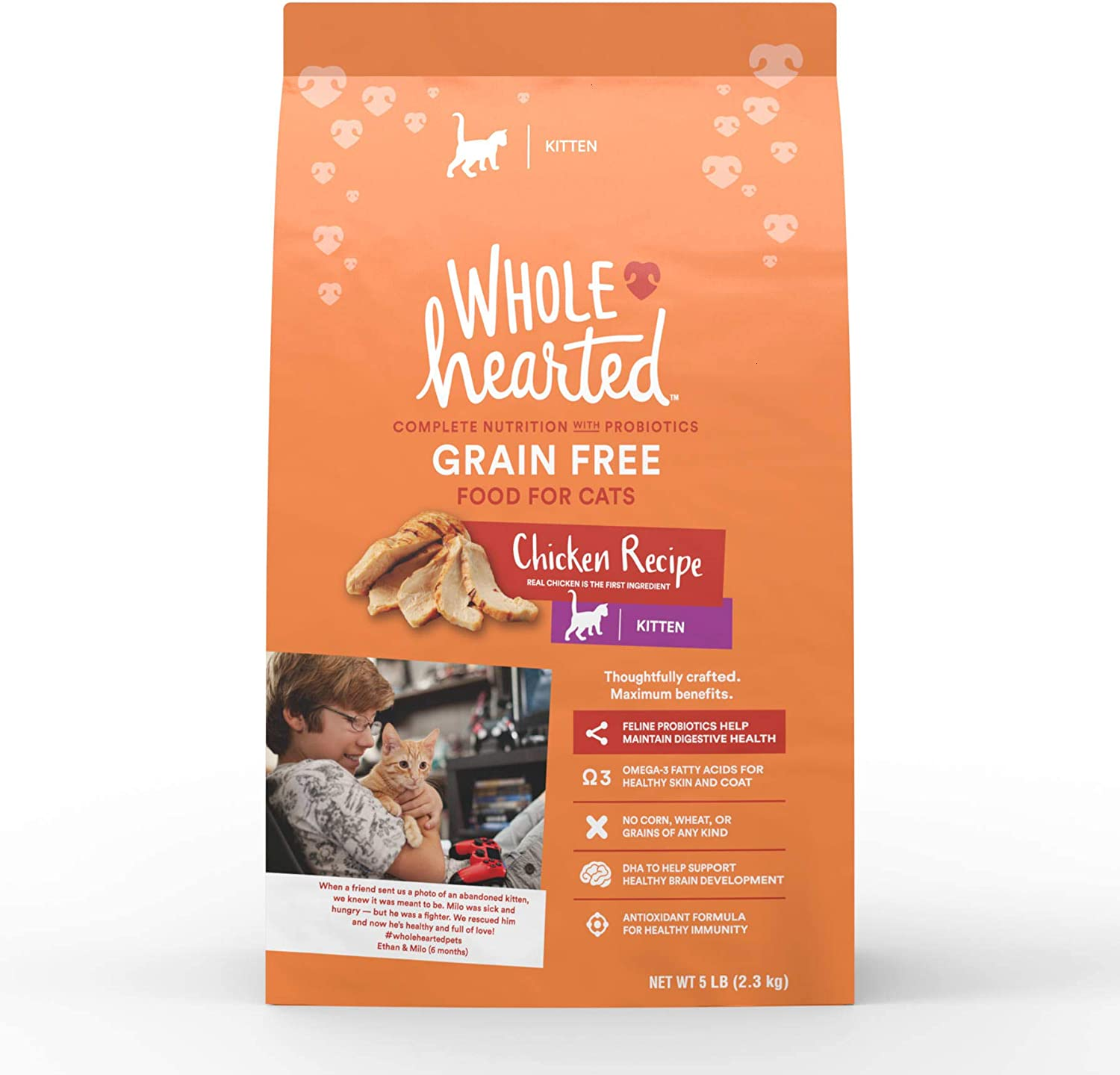 Petco Brand - WholeHearted Grain-Free Chicken Recipe Dry Kitten Food, 5 lbs.