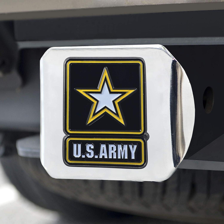 CC Sports Decor U.S Chrome Hitch Cover Auto Accessory Army Color Class III Hitch