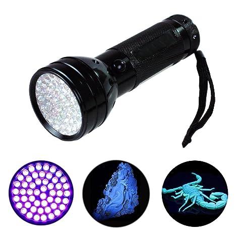 [51 LED UV luz] ilauke Pet UV orina y mancha Detector, / avsl